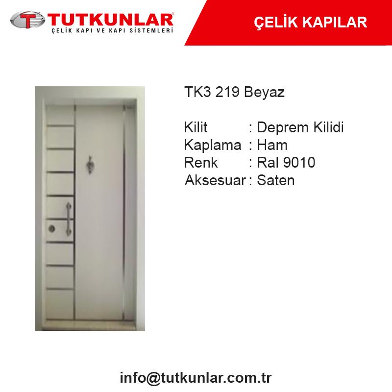 Çelik Kapı TK3 219 Beyaz